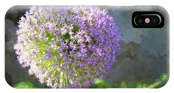 Purple Allium 2 Hollandicum Sensation  IPhone Case