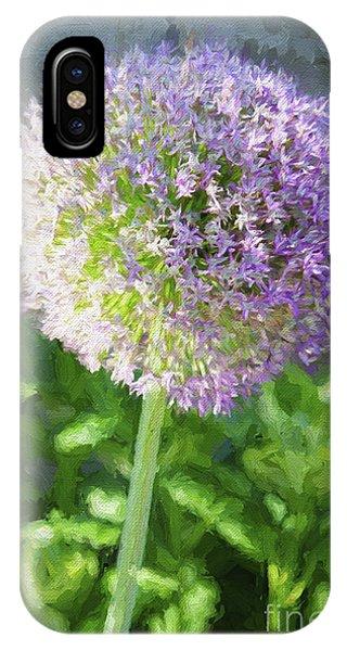 Purple Allium 3 Hollandicum Sensation  IPhone Case