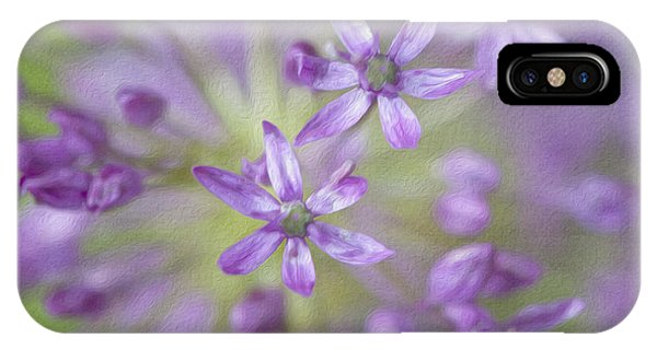 Purple Allium Flower IPhone Case