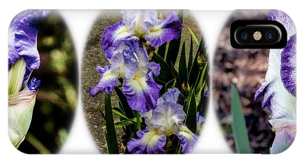 IPhone Case featuring the digital art Purple And White Irises by Photographic Art by Russel Ray Photos