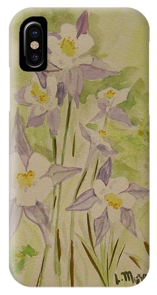 Purple And White Columbines IPhone Case