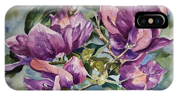 Purple Beauties - Bougainvillea IPhone Case