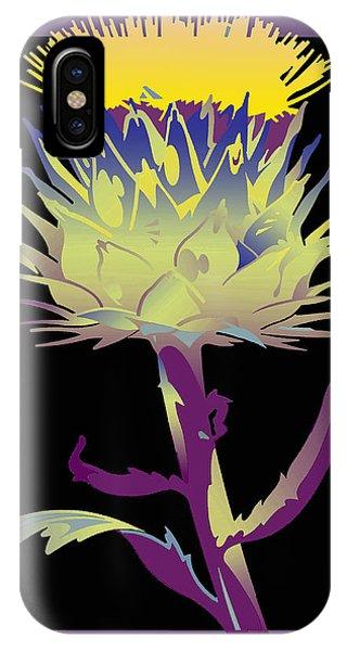 Purple-black Thistle IPhone Case