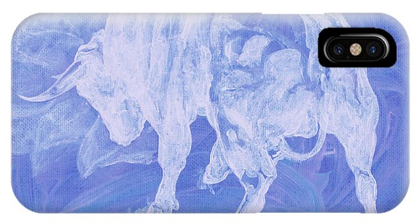 Purple Bull Negative IPhone Case