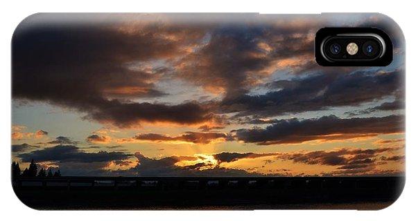 Purple Clouds Sunset  IPhone Case