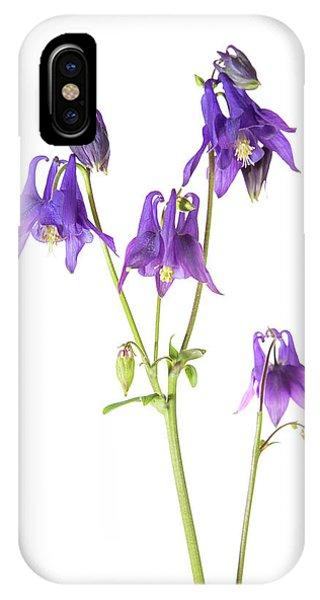 Aquilegia iPhone Case - Purple Columbine (aquilegia by Richard and Susan Day
