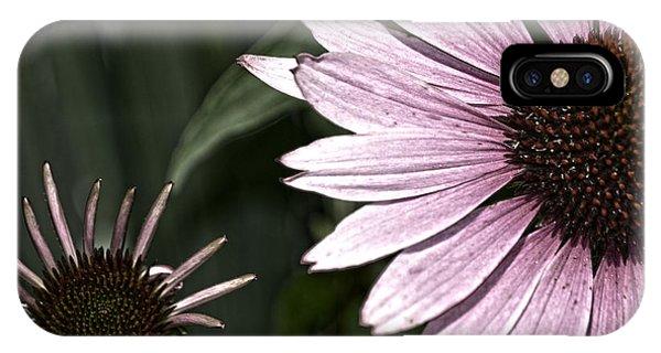 Purple Coneflower Imperfection IPhone Case