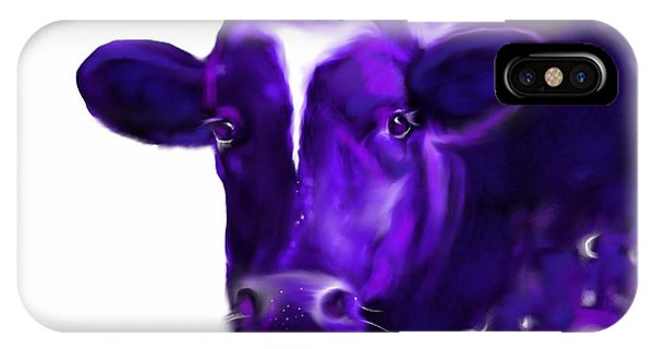 Purple Cow IPhone Case