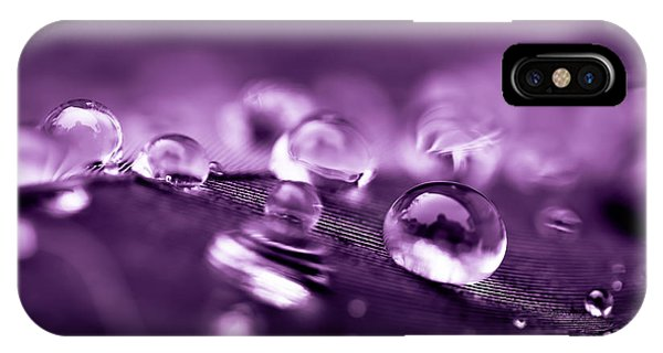 Purple Droplets IPhone Case