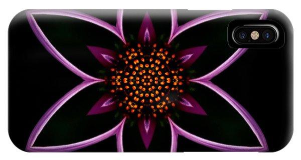 Purple Echinacea Flower Mandala IPhone Case