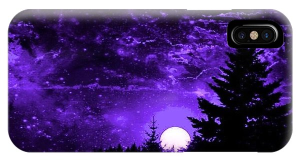 Purple Fantasy Sunset IPhone Case