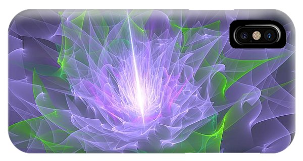 Purple Flame IPhone Case