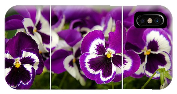 Purple Floral IPhone Case
