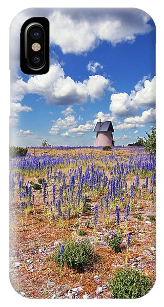 Purple Flower Countryside IPhone Case