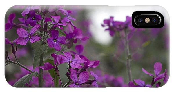 Purple Flowers IPhone Case