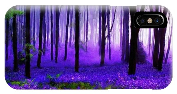 Purple Forest IPhone Case