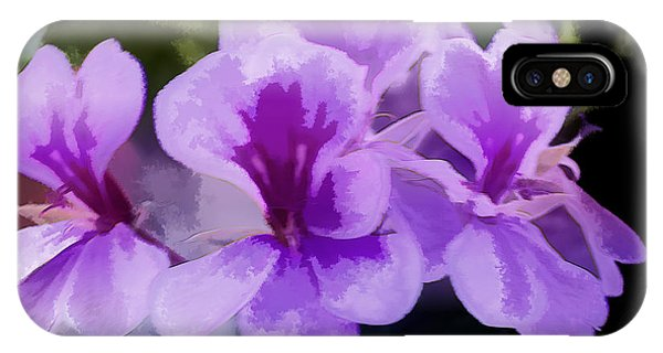Purple Geraniums  IPhone Case