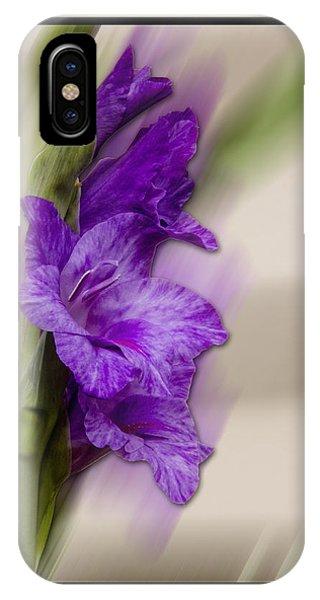 Purple Gladiolus Bloom IPhone Case
