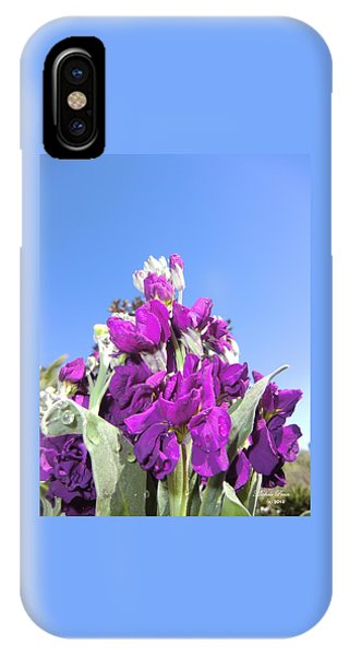 Purple Glow 2 IPhone Case