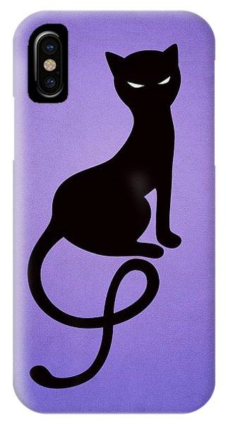 Purple Gracious Evil Black Cat IPhone Case