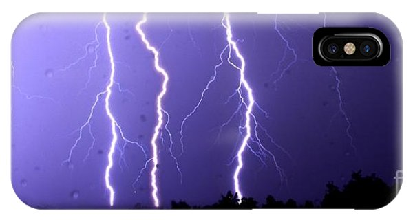 Purple Rain Lightning IPhone Case