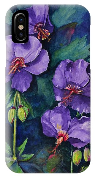 Purple Hibiscus IPhone Case