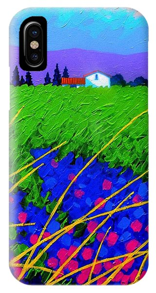 French Artist iPhone Case - Purple Hills by John  Nolan
