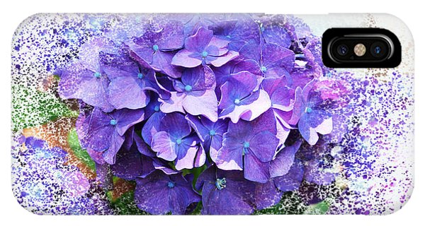 Purple Hydrangea Abstract IPhone Case