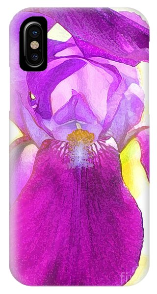 Purple Iris Watercolor IPhone Case