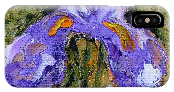 Purple Iris2 IPhone Case