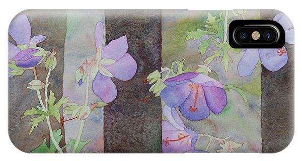 Purple Ivy Geranium IPhone Case