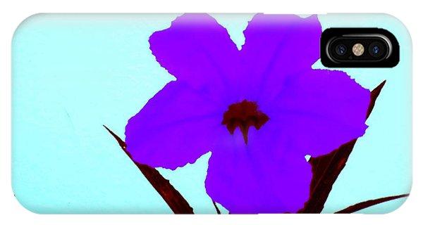 Purple Jack Flower IPhone Case