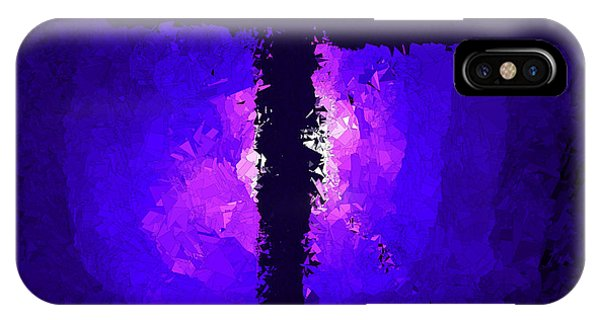 Purple Light Behind The Cross IPhone Case