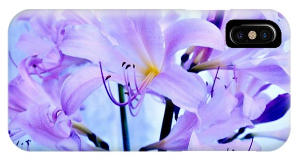Purple Lily Bouquet IPhone Case