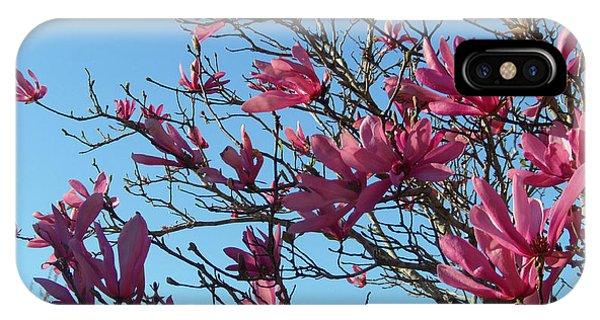 Purple Magnolias IPhone Case