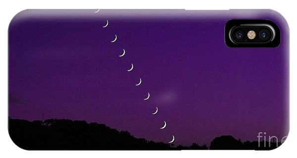Purple Moon Setting In West IPhone Case