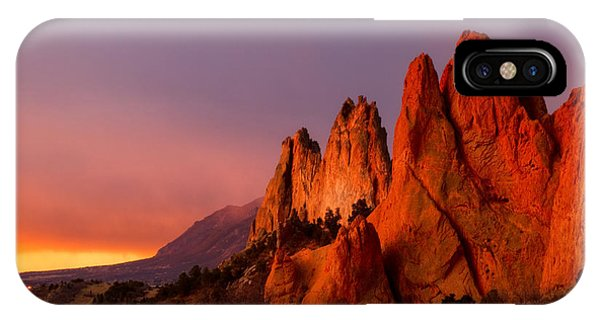 Purple Morning At Garden Of The Gods IPhone Case