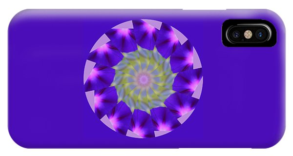 Purple Morning Glory Kaleidoscope IPhone Case