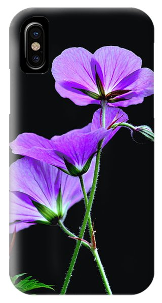 Purple On Black IPhone Case