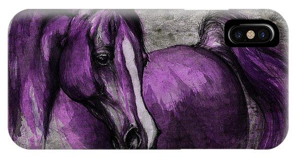 Wild Violet iPhone Case - Purple One by Angel Ciesniarska