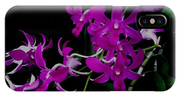 Purple Orchid Flower By Saribelle Rodriguez IPhone Case
