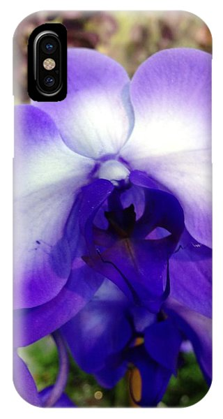 IPhone Case featuring the photograph Purple Orchid by Marian Palucci-Lonzetta