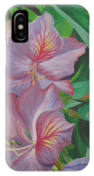 Purple Orchid Tree IPhone Case
