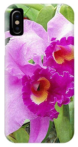 Purple Cattleya Orchids IPhone Case