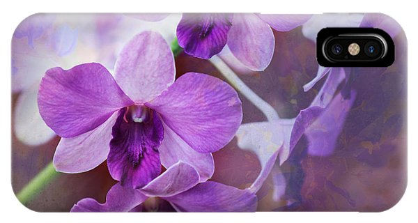 Purple Orchids IPhone Case