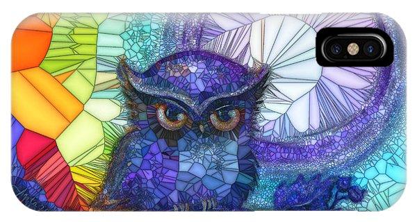 Owl Meditate IPhone Case