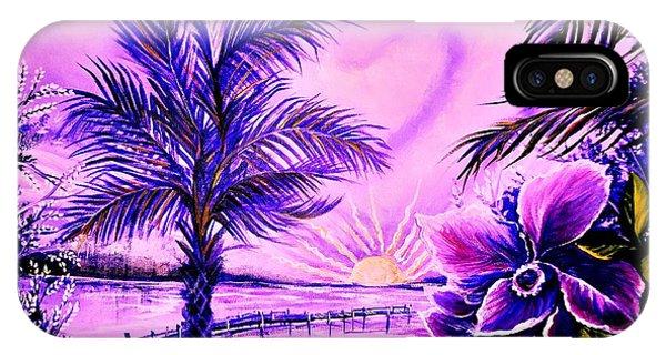 Purple Palm IPhone Case