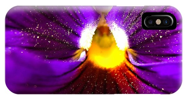 Purple Pansy Detail IPhone Case