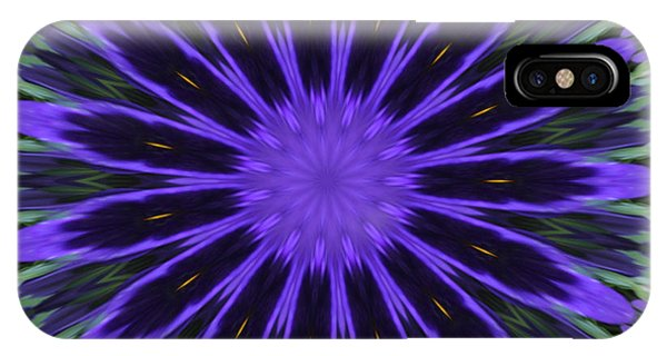 Purple Pansy Star Graphic Art IPhone Case