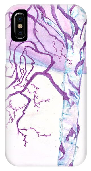 Purple Paper Birch IPhone Case
